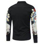 cheap Chinese Opera 3D Printed Long Sleeve Shirt