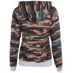 Buy Pullover Camouflage Print Paneled Hoodie S CAMOUFLAGE COLOR