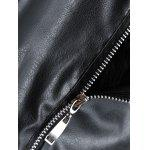 Zippers Faux Leather Biker Jacket with Fur Collar for sale