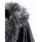 Zippers Faux Leather Biker Jacket with Fur Collar deal
