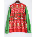 cheap Christmas Patterned Sweatshirt