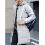 Contrast Paneled Rib Cuff Zip Up Hooded Padded Coat deal