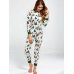 Christmas Tree Print Footed Pajama Sleepwear Sets for sale