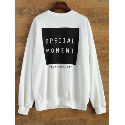 Loose Sports Letter Sweatshirt