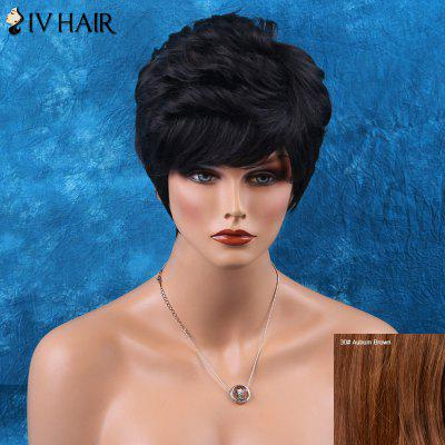 Siv Short Layered Inclined Bang Curly Human Hair Wig