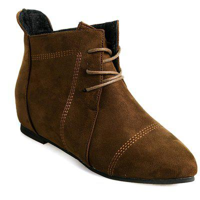Suede Point Toe Ankle Boots
