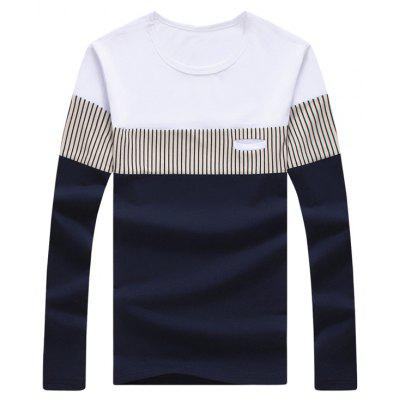 Long Sleeve Color Block Striped Tee