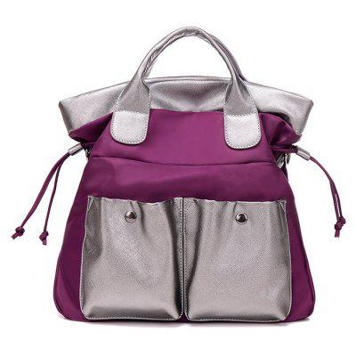 Drawstring Double Pocket Tote Bag