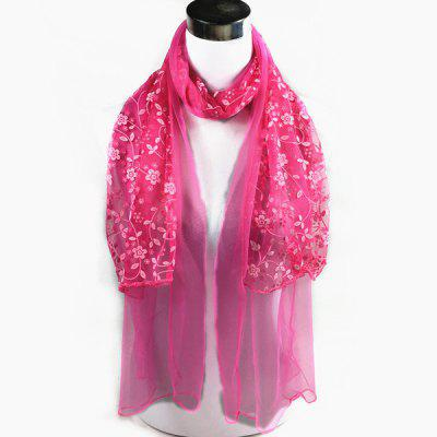 Outdoor wintersweet Bordados Lace Scarf