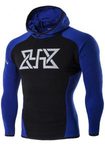Graphic Print Spliced Hoodie