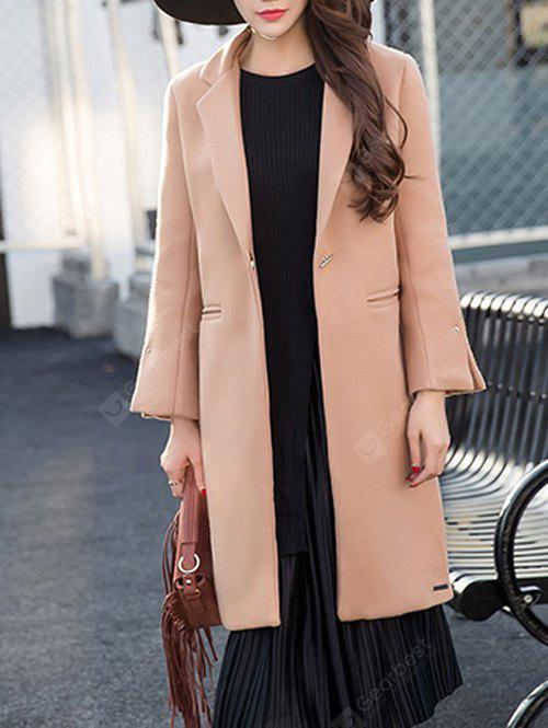 Wool Twin Pockets Longline Coat
