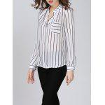 Chiffon Striped Beaded Blouse - STRIPE