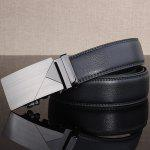 cheap Polished Geometric Automatic Buckle Wide Belt