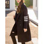 Lapel Collar Letter Graphic Long Coat deal