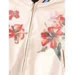 Flower Print Spring Baseball Jacket deal