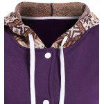Tribal Print Panel Button Up Hoodie deal