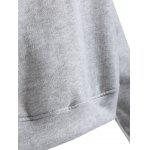 Sports Letter Print Hoodie - GRAY