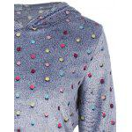 Flocking Dot Pattern Hoodie - ROYAL