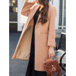 Wool Twin Pockets Longline Coat - CAMEL