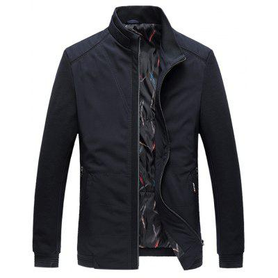 Side Pocket Zip Up Getäferten Padded Jacket