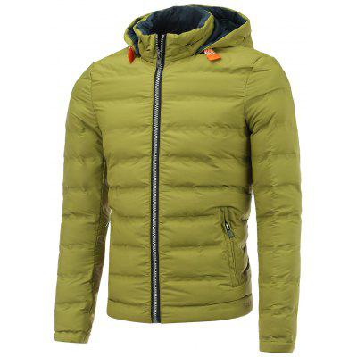 Hooded Zip Pocket Padded Jacket
