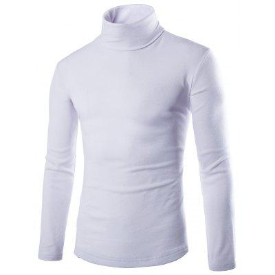Buy WHITE Long Sleeve Plain White T Shirt for $13.57 in GearBest store