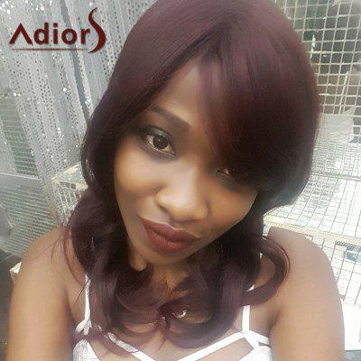 Buy DEEP RED Adiors Long Side Bang Wavy Synthetic Wig for $14.10 in GearBest store