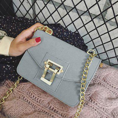 Metal Shape Chain Square Crossbody Bag