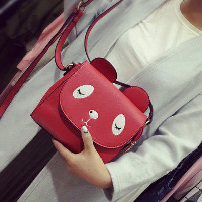 Buy RED Colour Splicing Covered Closure Crossbody Bag for $10.25 in GearBest store