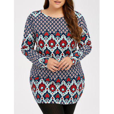 Plus Size Patterned Tee