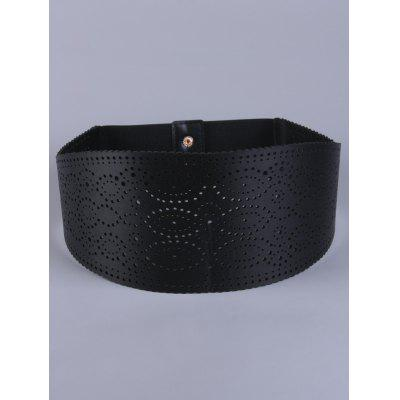 Coat Wear Openwork Round Stretch Belt