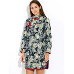 cheap Floral Long Chinese Style Coat