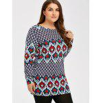 Pattern Plus Size Tee - COLORMIX