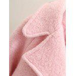 Long Double Breasted Wool Coat - PINK