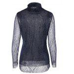 cheap Turtleneck Lace Blouse