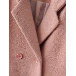 Lapel Wool Double Breasted Coat - LIGHT PINK