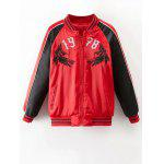 Color Block Souvenir Jacket