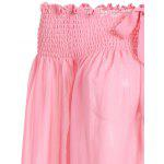Puffed Sleeve Off The Shoulder Top - PINK