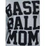 Base Ball Mom camisola com colar - CINZA CLARO