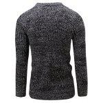 Slim Fit Crew Neck Ribbed Knitted Sweater - BLACK
