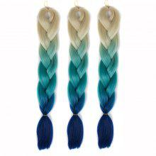 1 Pcs Long Multicolor High Temperature Fiber Braided Hair Extensions