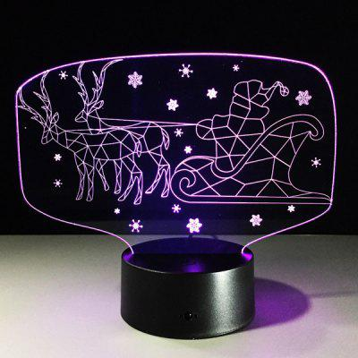 Colorful 3D Illusion LED Kids Room Christmas Night Light