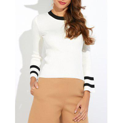Striped Color Block Pullover Knitwear