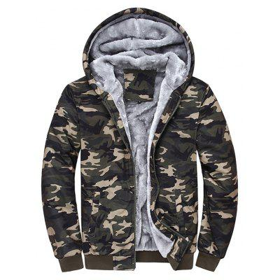 Thermal Camouflage Cool Zip Up Hoodies for Men