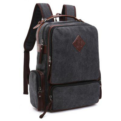 Canvas Multi Zip Pockets Backpack
