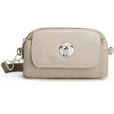 Double Zipper Nylon Clutch Bag