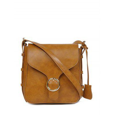 Vintage PU Leather Buckle Cross Body Bag