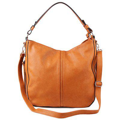 Color Scissor Faux Leather Shoulder Bag