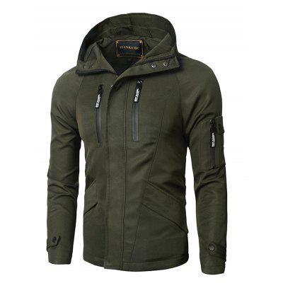 Hooded Zipper Design Thicken Cotton Jacket