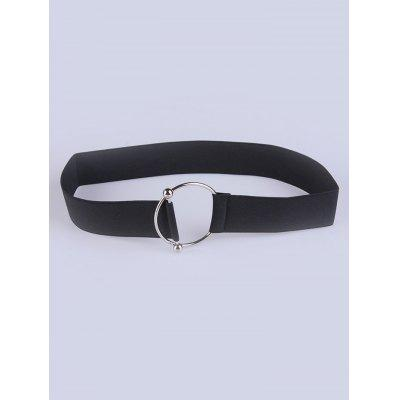 Circle Buckle Elastic Wide Belt